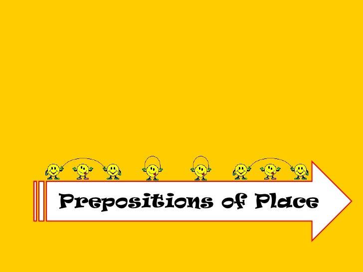 PrepositionsofPlace<br />