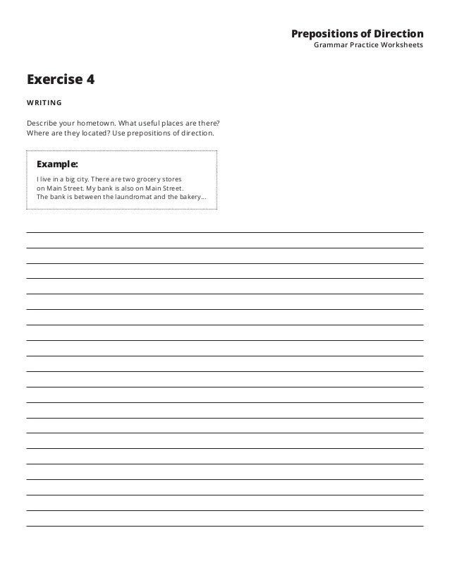 Prepositions 1 – Preposition Practice Worksheets