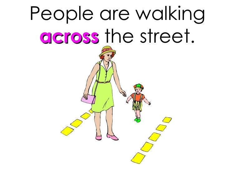 People Are Walking Across The Street