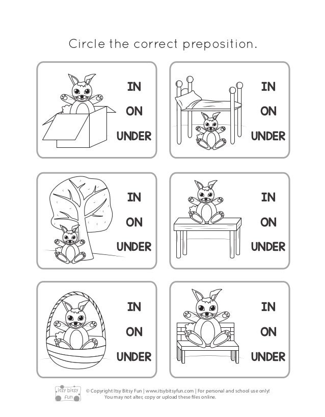 Preposition In Learn In Marathi All Complate: Prepositions Of-place-worksheets