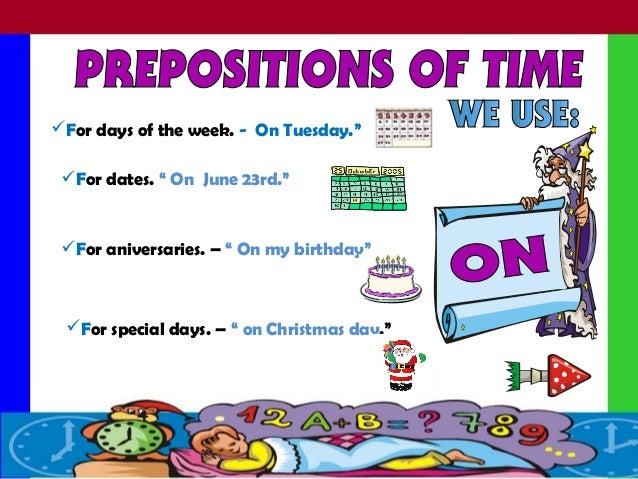 Prepositions of-time Slide 3