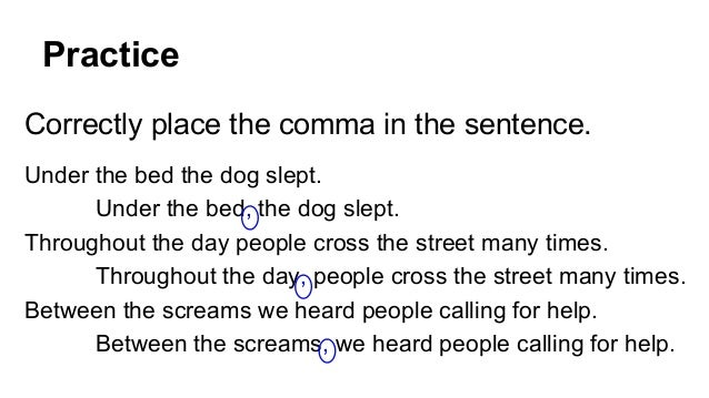 commas in a sentence prepositions at the beginning of sentences