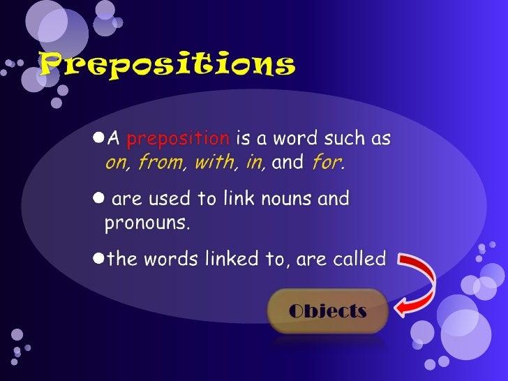 prepositions powerpoint presentation