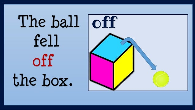 offThe ball fell off the box.