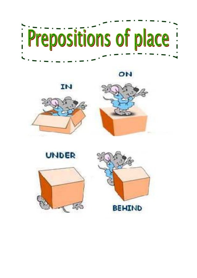 Prepositions of place study sheet