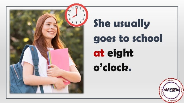 Prepositions of time: at, in, on Slide 3