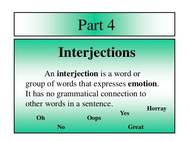 grammatical conjunction and preposition