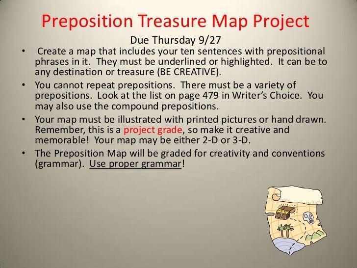 preposition treasure map project
