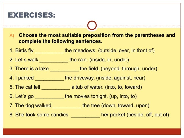 Preposition use presentation