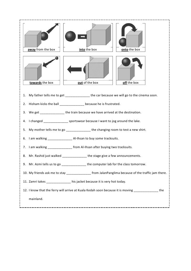 Printable Worksheets worksheets on prepositions for grade 1 : Preposition worksheet year 4