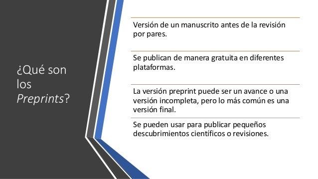Seminari CRICC: Qué es esto de los preprints... y cómo me afecta? Slide 2