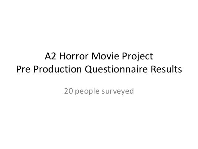 A2 Horror Movie ProjectPre Production Questionnaire Results          20 people surveyed