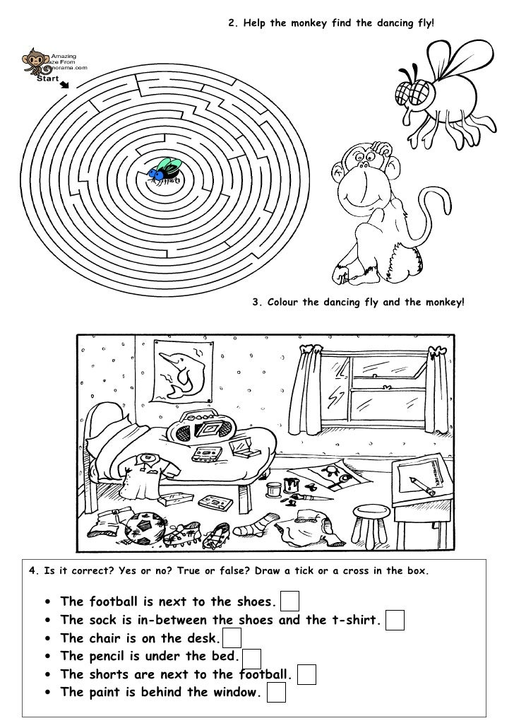Tom S Tefl Prepositions Of Place