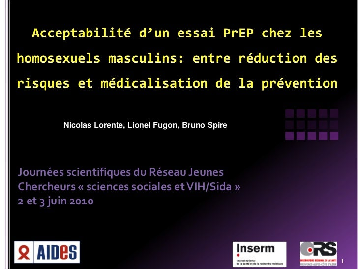 Nicolas Lorente, Lionel Fugon, Bruno SpireJournées scientifiques du Réseau JeunesChercheurs « sciences sociales et VIH/Sid...