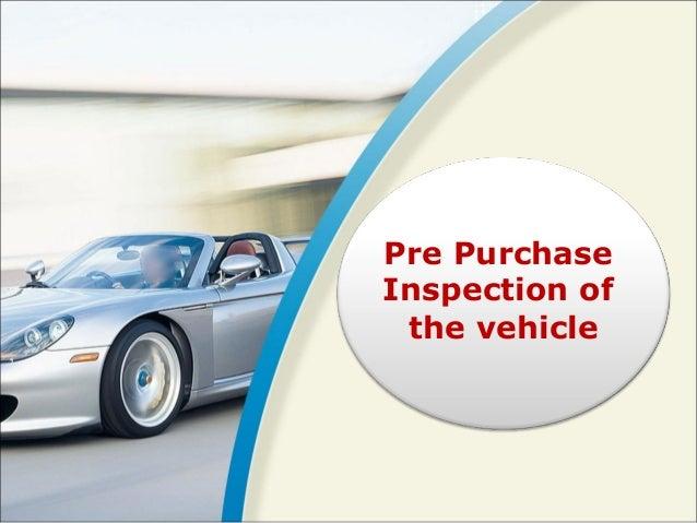 vehicle pre purchase inspection checklist pdf