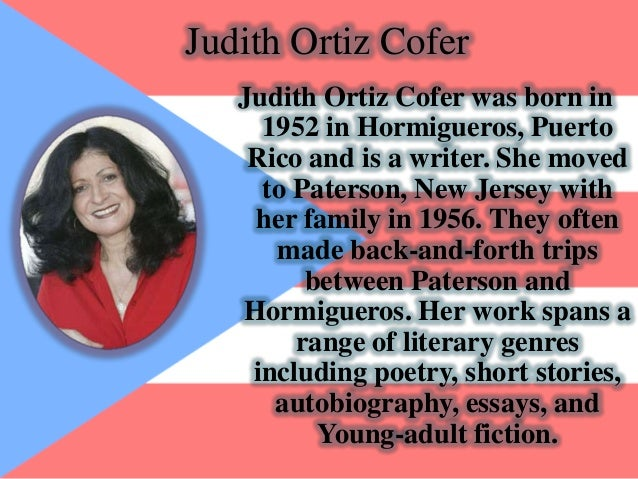 one more lesson judith ortiz cofer [judith ortiz cofer] -- a collection of writings by the poet, novelist, and essayist   cofer, judith ortiz, -- 1952- -- childhood and youth  one more lesson -.