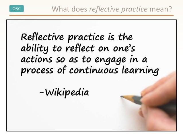 Reflective practice workshop - What is the meaning of back office ...