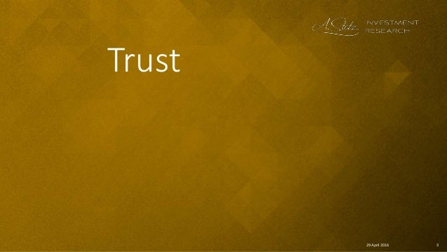 329 April 2016 Trust
