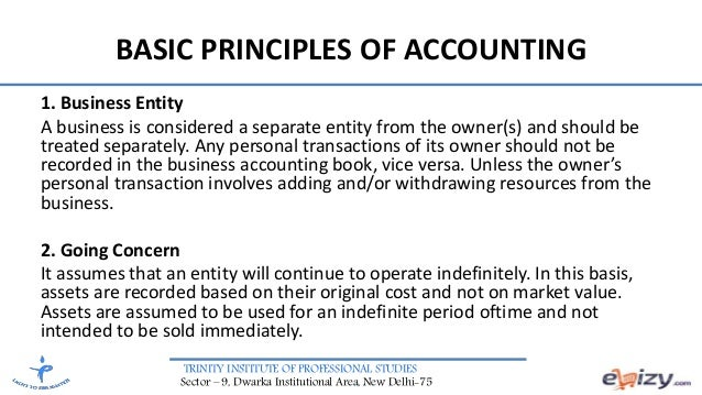 accounting basic theory Basic assumptions def ne the basic objectives of accounting practice they  provide  benef t, the principle is modif ed to achieve more benef t from it  materiality.