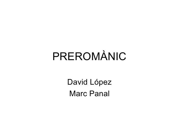 PREROMÀNIC David López Marc Panal