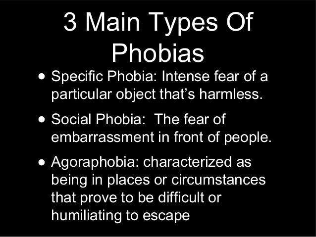 kinds of phobias This wiki is all about phobias, a psychological disorder in which a person (irrationally) fears specific things, such as fear of storms (procellaphobia), fear of.