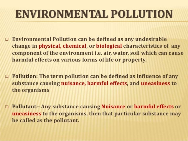 environmental pollution environmental pollution