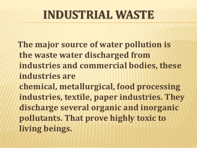 short essay about pollution