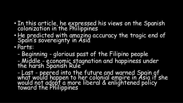 analysis of indolence of the filipinos The indolence of the filipinos without education and liberty, which are the soil and the sun of man, no reform is possible no measure can give the result desired - jose rizal analysis indolence in the philippines is a chronic malady.