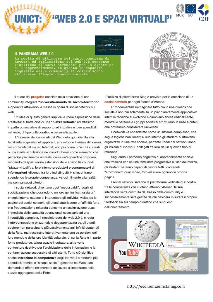 """UNICT: """"WEB 2.0 E SPAZI VIRTUALI""""                                                                                         ..."""