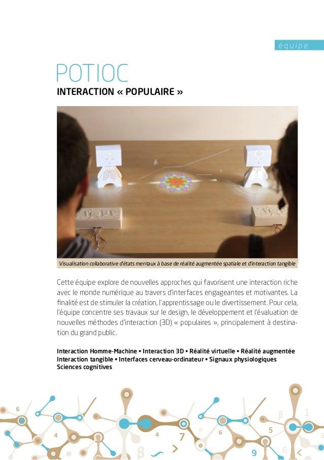 é q u i p e INTERACTION «POPULAIRE» Cette équipe explore de nouvelles approches qui favorisent une interaction riche ave...