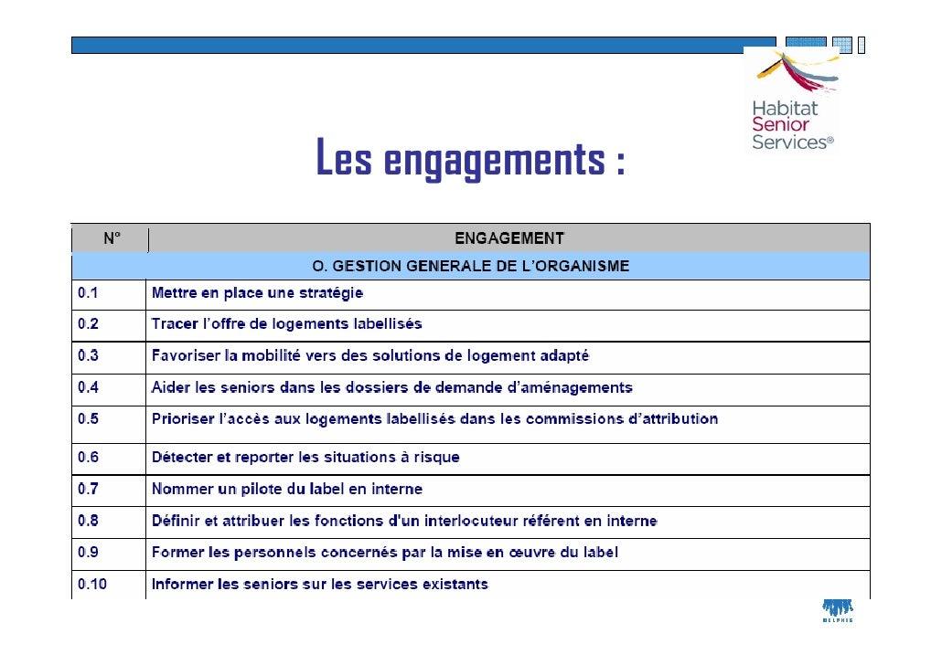 Les engagements :