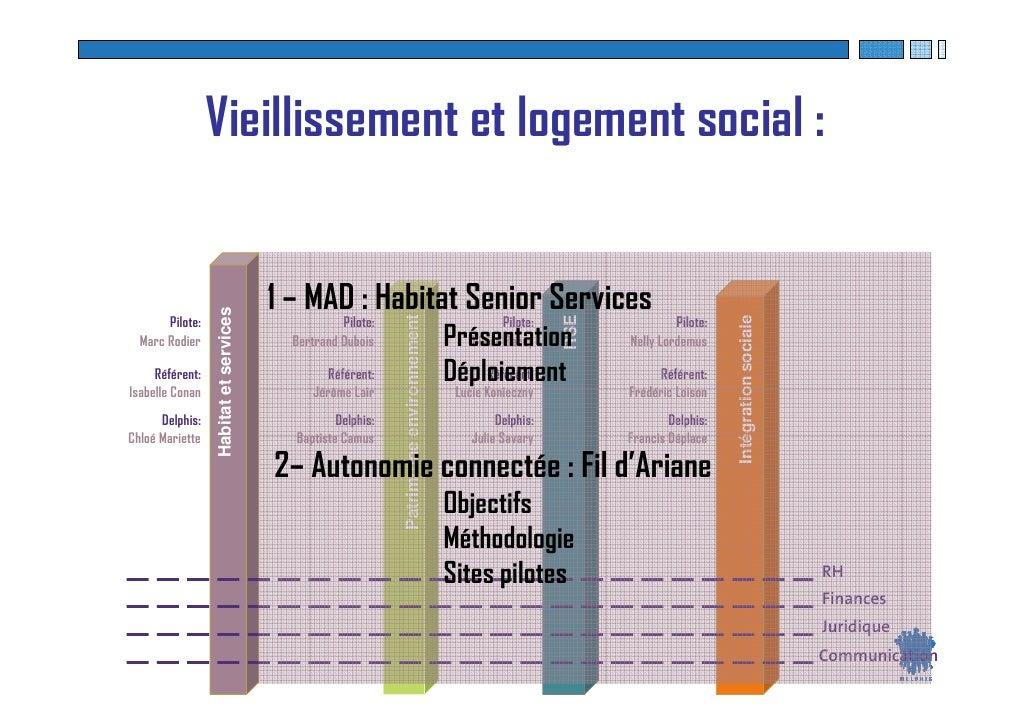 Vieillissement et logement social :                                          1 – MAD : Habitat Senior Services            ...