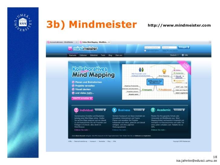 3b) Mindmeister   http://www.mindmeister.com                                                   18                         ...