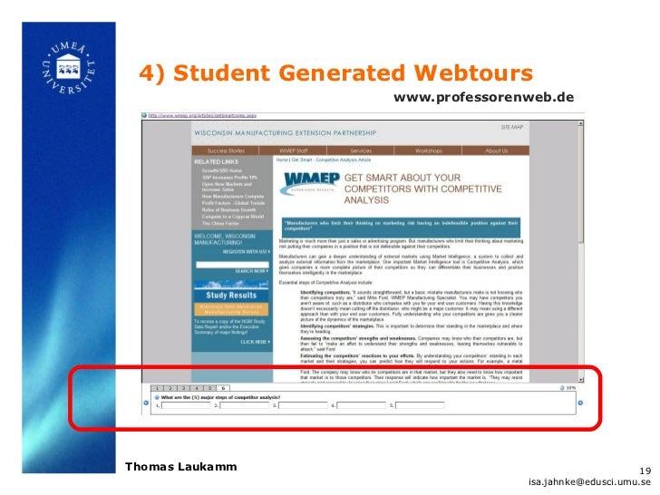 4) Student Generated Webtours                   www.professorenweb.deThomas Laukamm                                       ...