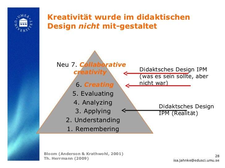 Kreativität wurde im didaktischen Design nicht mit-gestaltet     Neu 7. Collaborative                                     ...