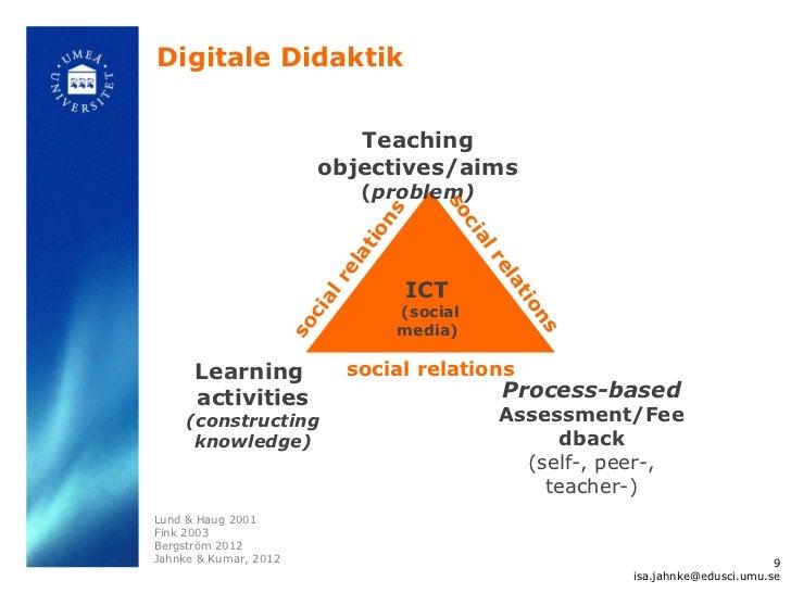 Digitale Didaktik                             Teaching                          objectives/aims                           ...