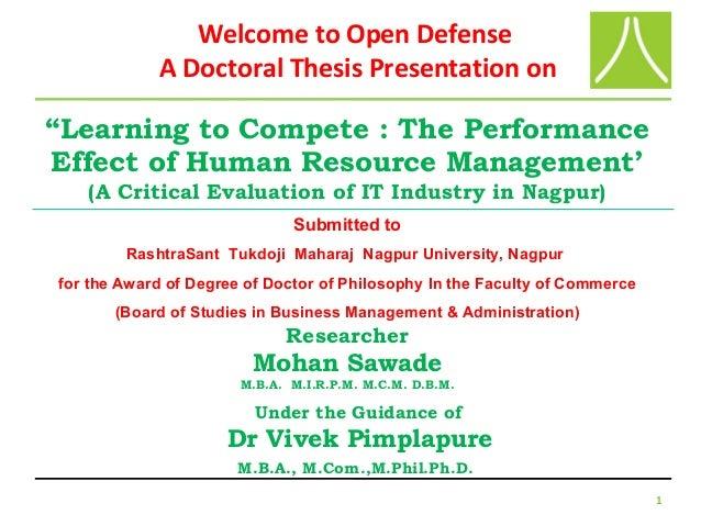 Viva thesis presentation