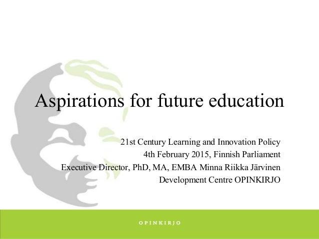 future aspirations