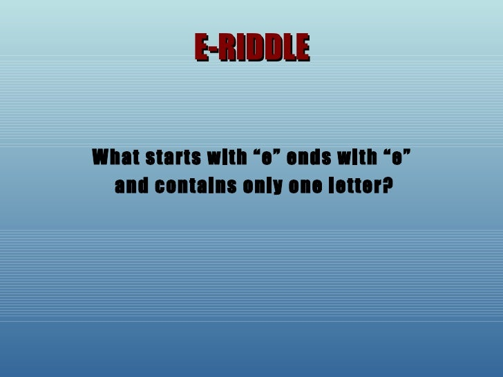 the letter e riddle riddles and puzzles 571