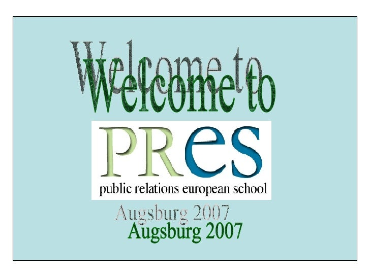 Welcome to Augsburg 2007