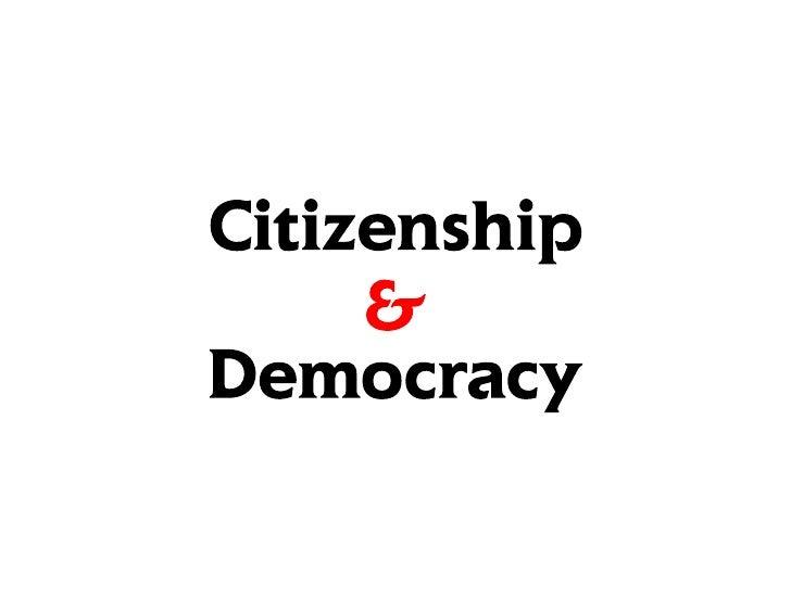 "Rhett Bradbury ///// Directed Research ///// 2nd Presentation ///// ""Citizenship & Democracy"""