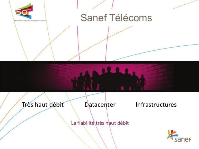 Sanef Télécoms  Très haut débit  Datacenter La fiabilité très haut débit  Infrastructures