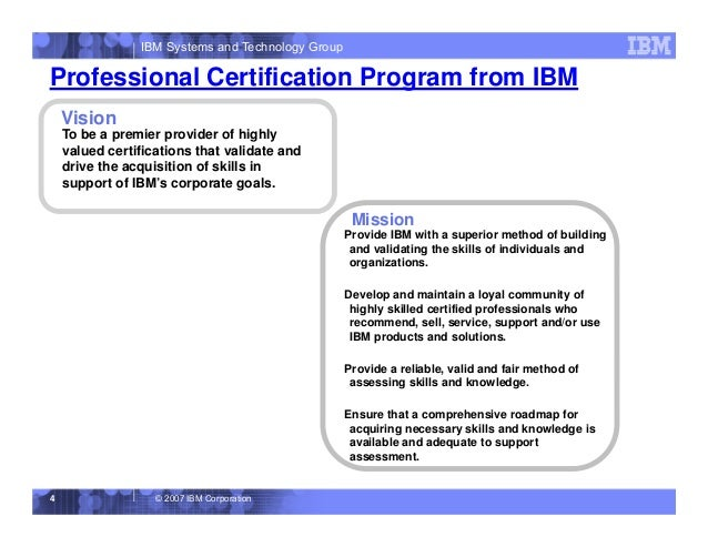 IBM Professional Certification Overview