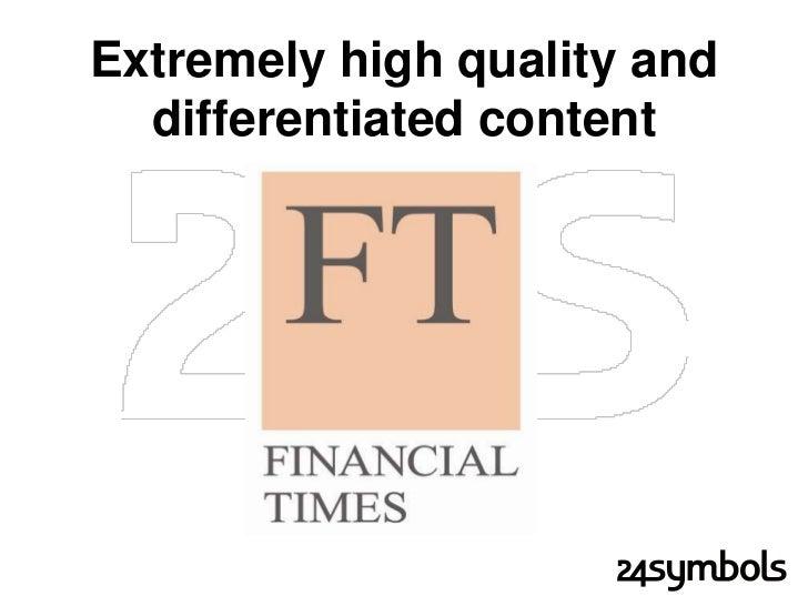 Classic content-focused business             model