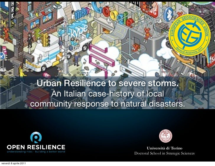 Urban Resilience to severe storms.                            An Italian case-history of local                        comm...