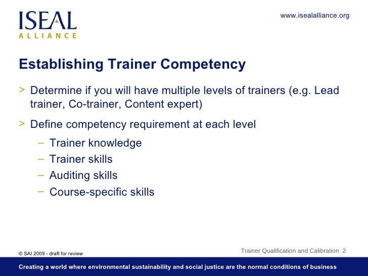 5. Trainer Qualification and Calibration Slide 2