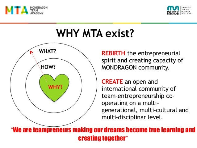 """WHY MTA exist? WHAT? HOW? WHY? """"We are teampreneurs making our dreams become true learning and creating together"""" REBIRTH ..."""