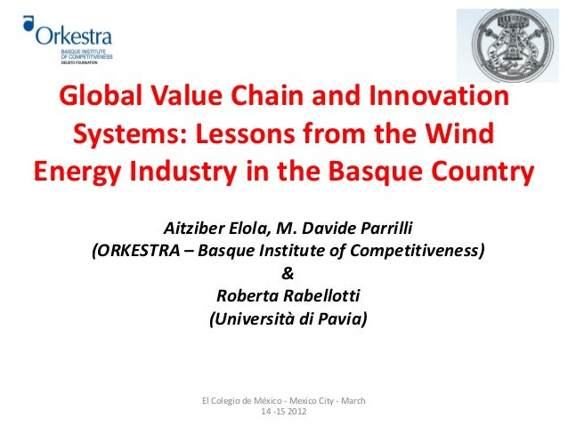 Global Value Chain and Innovation  Systems: Lessons from the Wind  Energy Industry in the Basque Country  Aitziber Elola, ...