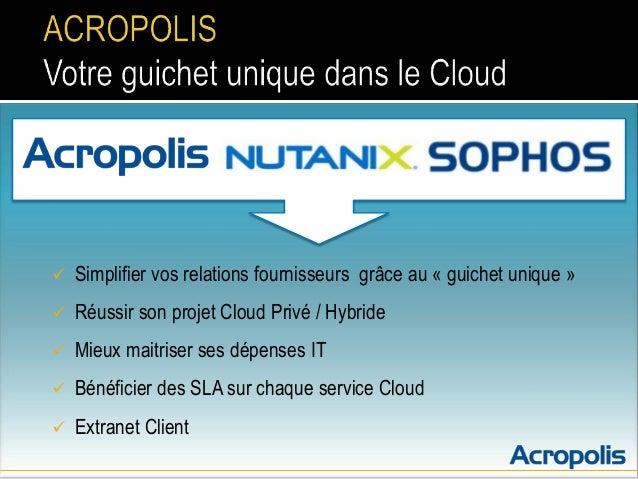   Simplifier vos relations fournisseurs grâce au « guichet unique »    Réussir son projet Cloud Privé / Hybride    Mieu...