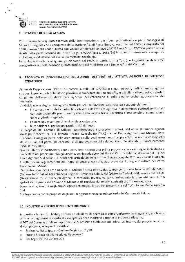La presente copia informatica, destinata unicamente alla pubblicazione sullAlbo Pretorio on Line, e conforme al documento ...